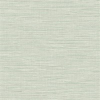 Exhale Teal Faux Grasscloth Wallpaper