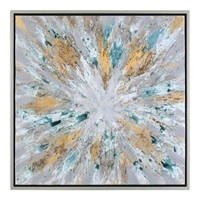Exploding Star Modern Abstract Art