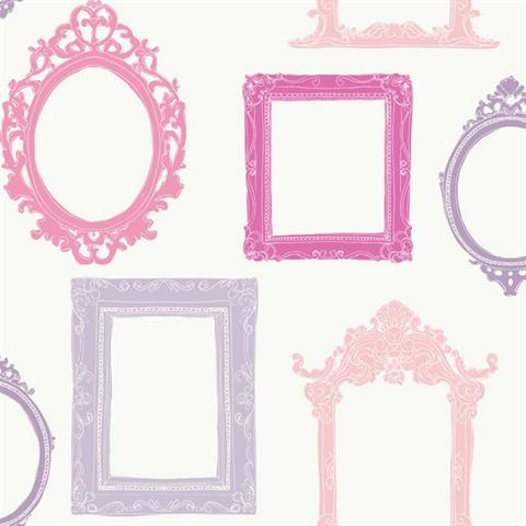 YS9340 Pink And Purple Modern Fancy Frames Girls