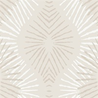 Feliz Platinum Beaded Ogee Wallpaper