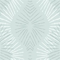 Feliz Seafoam Beaded Ogee Wallpaper