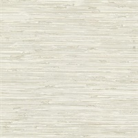 Fiber Cream Faux Grasscloth Wallpaper
