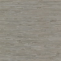 Fiber Taupe Faux Grasscloth Wallpaper