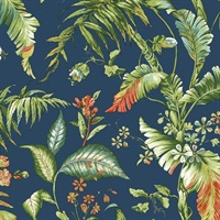 Navy Fiji Garden Wallpaper
