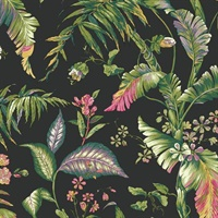 Charcoal Fiji Garden Wallpaper