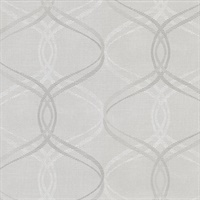 Fleance Light Grey Ogee Wallpaper