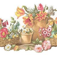 Die Cut Basket Wallpaper Border