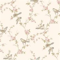 Floral Branches W/Birds