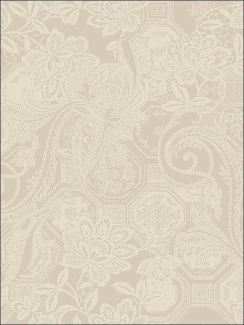 Floral Cream on Beige