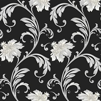 Floral Scroll Wallpaper