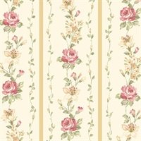 Red Rose Stripe Wallpaper