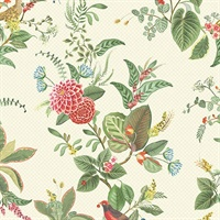 Floris Mint Woodland Floral Wallpaper