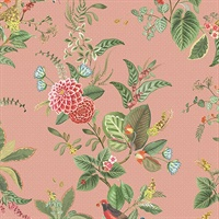 Floris Pink Woodland Floral Wallpaper
