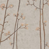 Flowering Plum Orchard Wallpaper