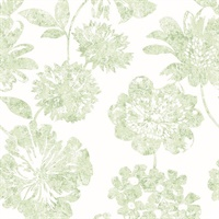 Folia Aqua Floral Wallpaper