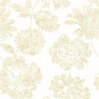 Folia Beige Floral Wallpaper