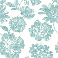 Folia Light Green Floral Wallpaper