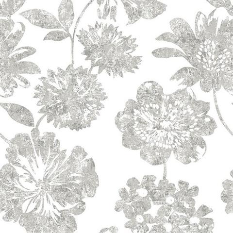 Folia Taupe Floral Wallpaper