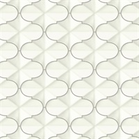 Ashford House Frances Wallpaper - Silver