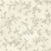 French Nightingale Cream Trail Wallpaper