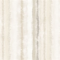 Frequency Stripe Wallpaper in Beige & Brown