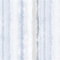 Frequency Stripe Wallpaper in Grey, Blue & Beige