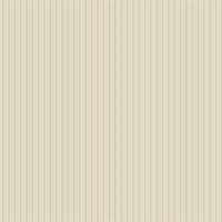 Frideswide Beige Pinstripe Wallpaper