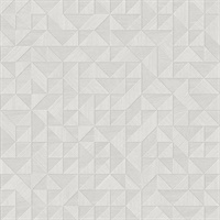 Gallerie Light Grey Geometric Wood Wallpaper