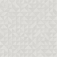 Gallerie Light Grey Triangle Geometric Wallpaper