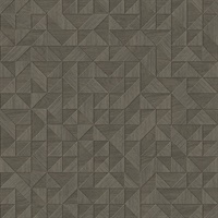 Gallerie Taupe Geometric Wood Wallpaper