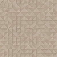 Gallerie Taupe Triangle Geometric Wallpaper