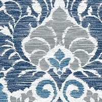 Garden of Eden Blue Damask Wallpaper