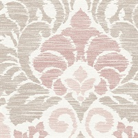 Garden of Eden Pink Damask Wallpaper