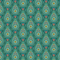 Garden Party Teal Raindrops Wallpaper