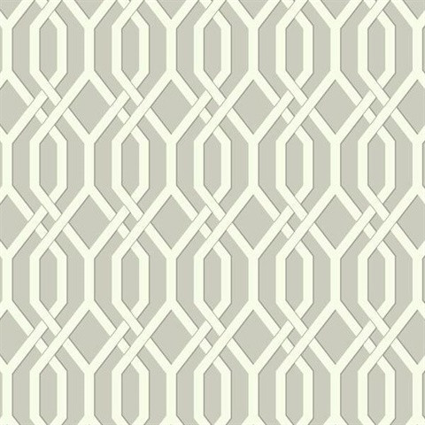 Ashford House Garden Pergola Wallpaper - Cream/Gray