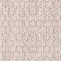 Geometric Overlaid Faux Grasscloth