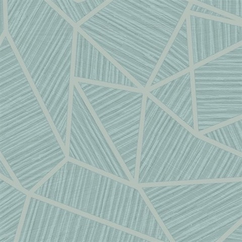 Te11304 Blue Geometric Wallpaper Total Wallcovering