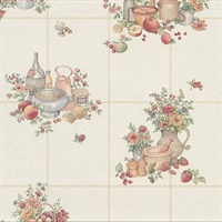 Giada Multicolor Fruit Basket Tile Wallpaper