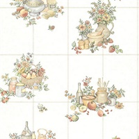 Giada Off-white Fruit Basket Tile Wallpaper