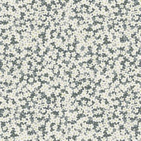 Giverny Grey Miniature Floral Wallpaper