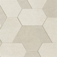 Plaza Cream Geometric Wallpaper