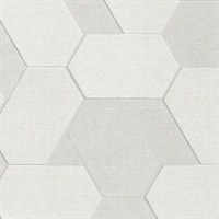 Plaza Ivory Geometric Wallpaper