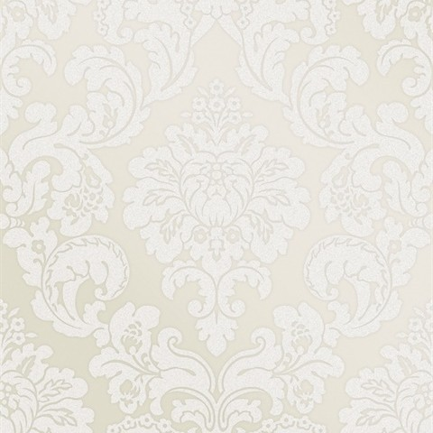 Margot Cream Damask Wallpaper