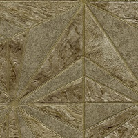 Los Cabos Brown Marble Geometric Wallpaper