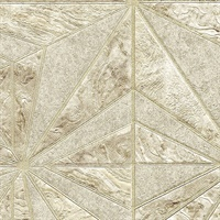 Los Cabos Champagne Marble Geometric Wallpaper