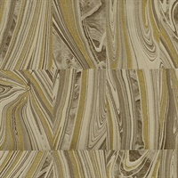 Boulders Brown Glitter Marble Wallpaper