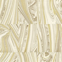 Boulders Champagne Glitter Marble Wallpaper