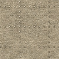 Goldberg Brown Hammered Metal Wallpaper