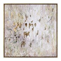 Golden Raindrops Modern Abstract Art