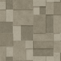 Duchamp Gold Metallic Squares Wallpaper